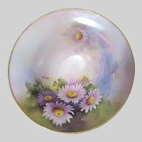 Noritake Artist Signed Hand Painted Bowl Violet Flowers