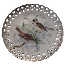 Hand Painted Birds Decorative Plate Bird Art Signed