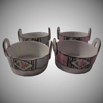 Set 4 Noritake Hand Painted Individual Salts Salt Bowls