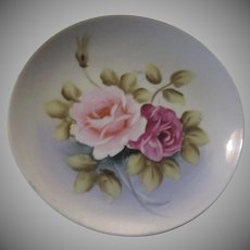 Hand Painted Roses Decorative Plate