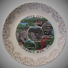 Rock City Lookout Mountain Tennessee Decorator Plate