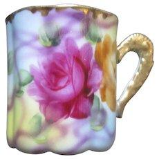 Old Porcelain Floral Demitasse Cup