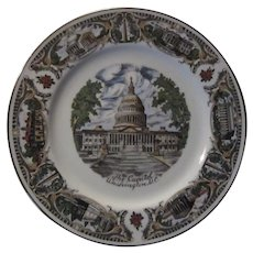 The Capitol Washington DC Collector Plate Many Scenes