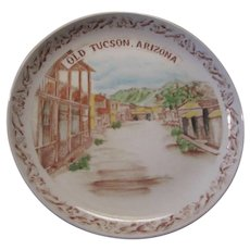 Old Tucson Arizona Collector Plate Old West Scene