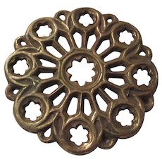 1964 Dated Brass Heavy Trivet Stand