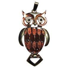 Elegant Owl Bird Pendant