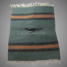 Native American Small Rug Chimaya New Mexico