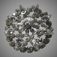 Elegant Brilliant Rhinestone Brooch Pin Large Stones