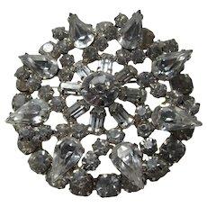 Elegant Brilliant Rhinestone Brooch Pin Large Stones