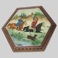 Trinket Box Middle Eastern Art Scene Hunters Horses
