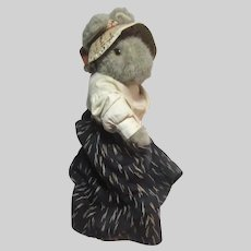 Little Folk Plush Rabbit In Antique Clothing