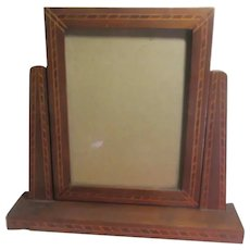 Art Deco Wooden Frame for Picture or Mirror with Inlay