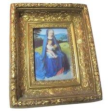 Gold Gilt Picture Frame Raised Sides Ornate