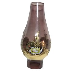 Glass Hurricane Chimney Globe Hand Painted Designs
