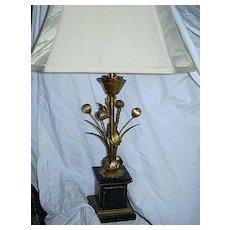 Italian Florentine Gold Gilt  Lamp Fine Lighting Italy