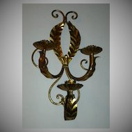 Italian Florentine Gold Gilt Sconce Lighting Wall  Candleholder