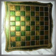 Italian Florentine Checkerboard Chess Game Board Table Top