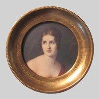 Florentine Framed Small Art Print Lady