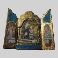 Virgin Mary Infant Jesus Triptych Italian Florentine