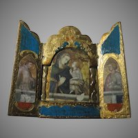 Virgin Mary Infant Jesus Triptych Italian Florentine