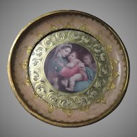 Florentine Italian Framed Madonna of the Table  Religious Print Virgin Mary