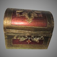Italian Florentine Box Treasure Chest Dome Shape