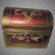 Italian Florentine Box Treasure Chest Dome Shape