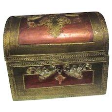 Italian Florentine Hand Painted Treasure Chest Box