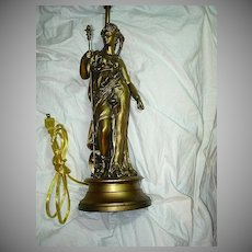 Gold Gilt Grecian Lady Lamp Fine Lighting