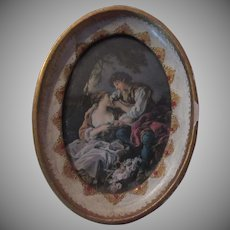 Florentine Italy Framed Miniature Boucher Art Hand Painted Frame