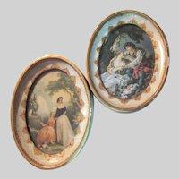 Pair Old Boucher Hilair Prints Italian Florentine Frames