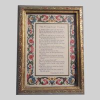 Italian Florentine Framed Proverbial Woman Poem