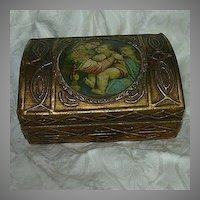 Italian Florentine Gold Gilt Madonna Of The Table Box