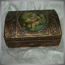 Italian Florentine Gold Gilt Madonna Of The Table Box