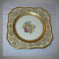 Selb Royal Bavarian Hutschenreuther Edgerton Dessert Plates  Set 12 Gold Trim
