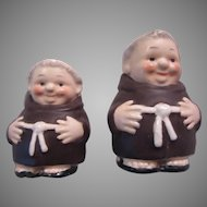 Goebel Germany Friars Monks Salt Pepper Figurines Pair