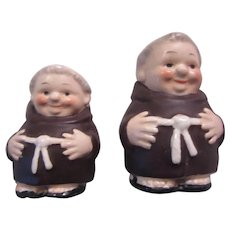 Goebel Germany Friars Monks Salt Pepper Figurines Pair