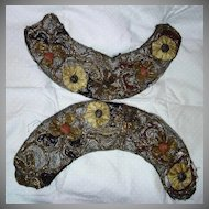 Cloth Of Gold Collar Or Pair Cuffs Antique Needlework