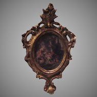 Miniature Florentine Ornate Frame with Floral Print