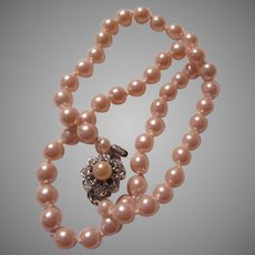 Fine Faux Pearls Necklace