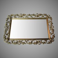 Vintage Fancy Dresser Mirror Tray