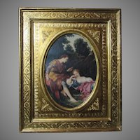 Italian Florentine Gold Gilt Picture Frame Print by Boucher