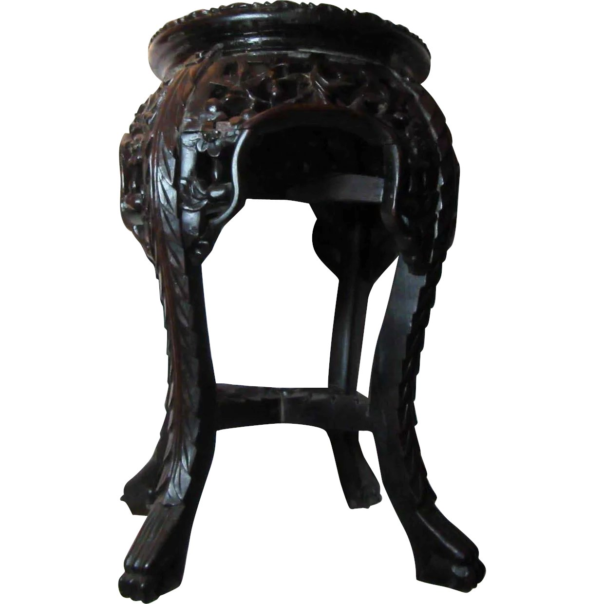 Oriental Carved Table Stand