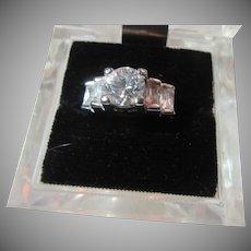 Fine Vintage CZ Cubic Zirconia  Ring  Sz 5