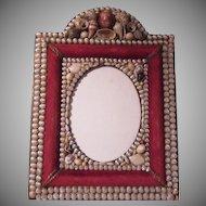 Antique Shell Covered Frame Sailor Folk Art