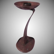 Hand Hammered Heavy Copper Artistic Candle Stand