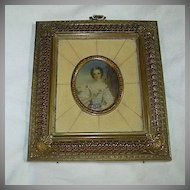 Hand Painted Or Embellished Miniature Ornate Frame