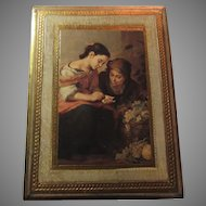 Italian Florentine Art Plaque Gold Gilt