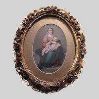 Virgin Mary Infant Jesus Art Print Gold Gilt Frame