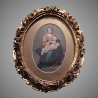 Virgin Mary Infant Jesus Art Print Gold Gilt Frame